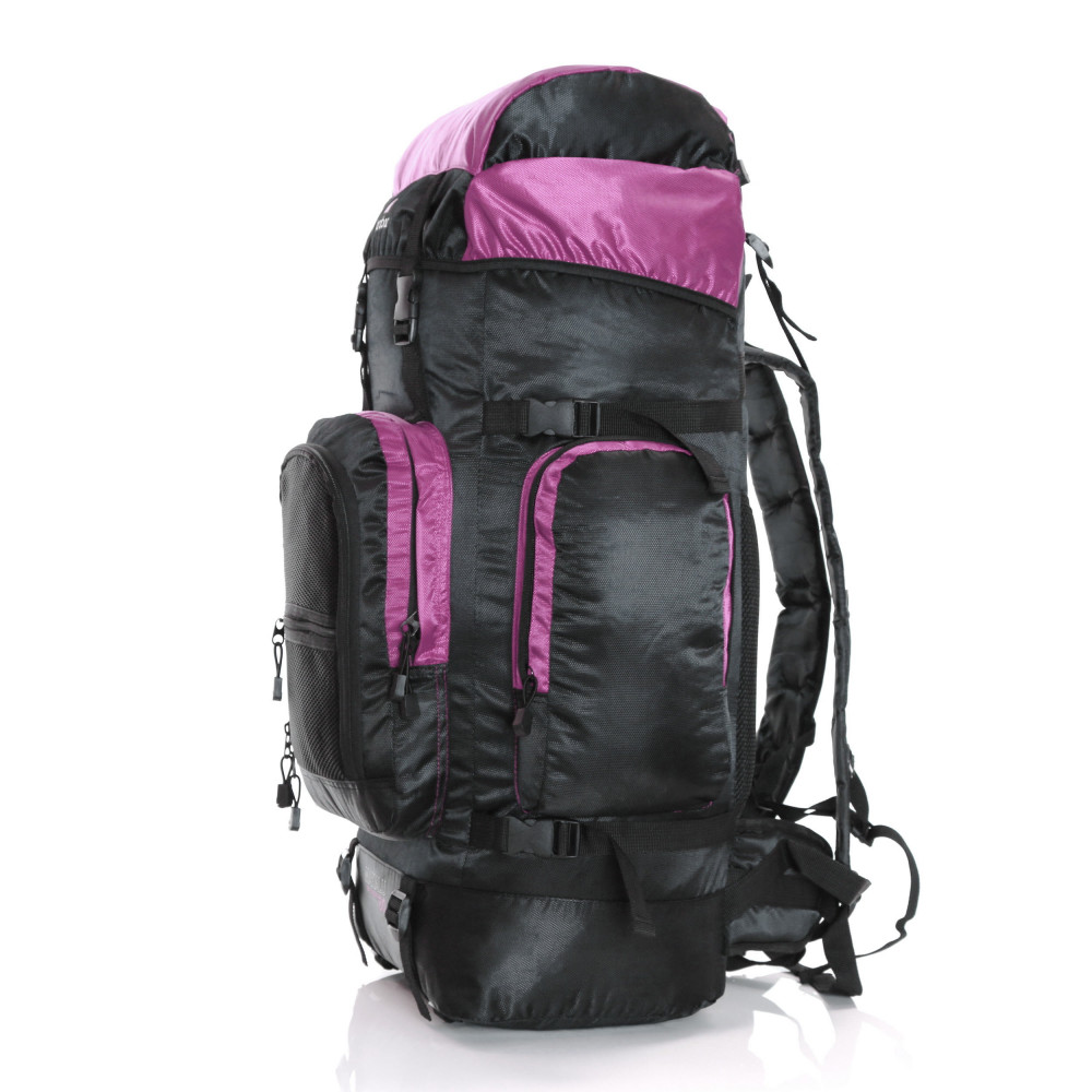 Karabar Makalu 120 Litres Travel Backpack, Pink Side Back