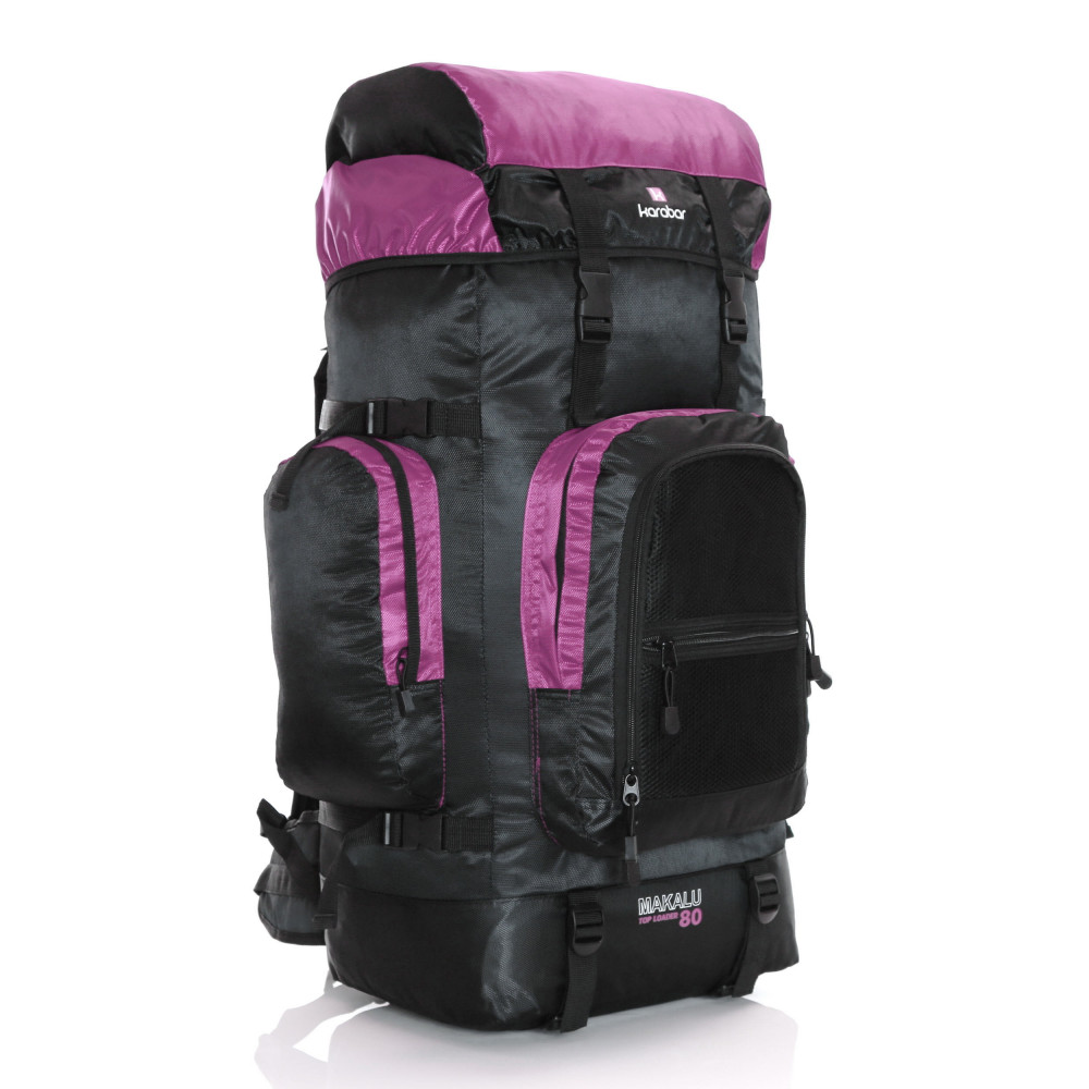 Karabar Makalu 120 Litres Travel Backpack, Pink Front