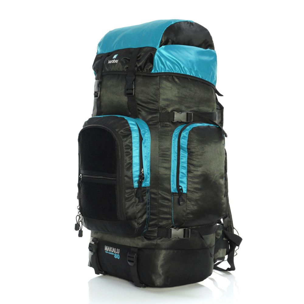 Karabar Makalu 120 Litres Travel Backpack, Sky Blue Front