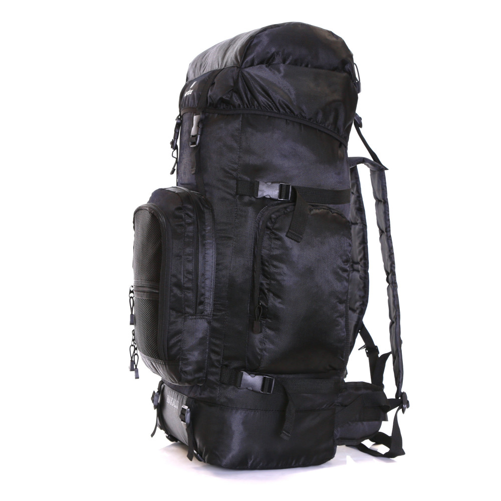 Karabar Makalu 120 Litres Travel Backpack, Black Side Front
