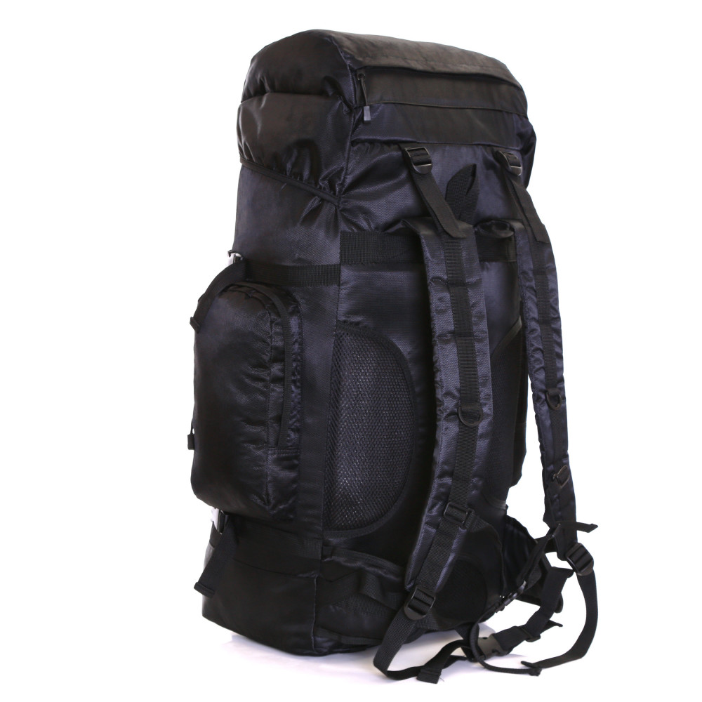 Karabar Makalu 120 Litres Travel Backpack, Black Side Back