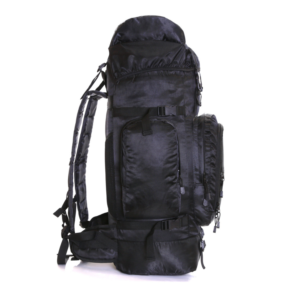 Karabar Makalu 80 Litres Travel Backpack, Black Side 2