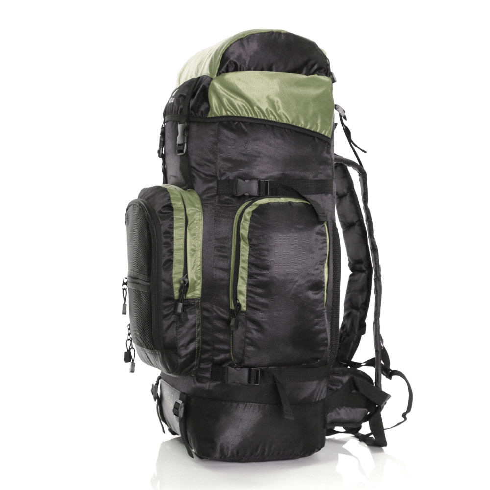 Karabar Makalu 80 Litres Travel Backpack, Black/Khaki 4