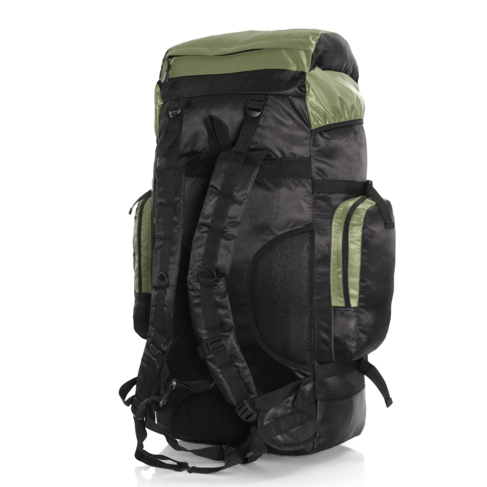 Karabar Makalu 80 Litres Travel Backpack, Black/Khaki 5