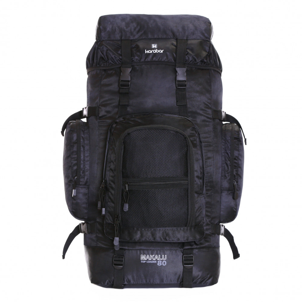 Karabar Makalu 80 Litres Travel Backpack, Black
