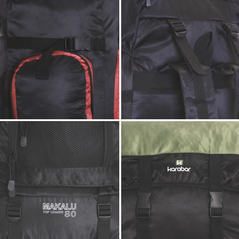 Karabar Makalu 80 Litres Travel Backpack Multi View