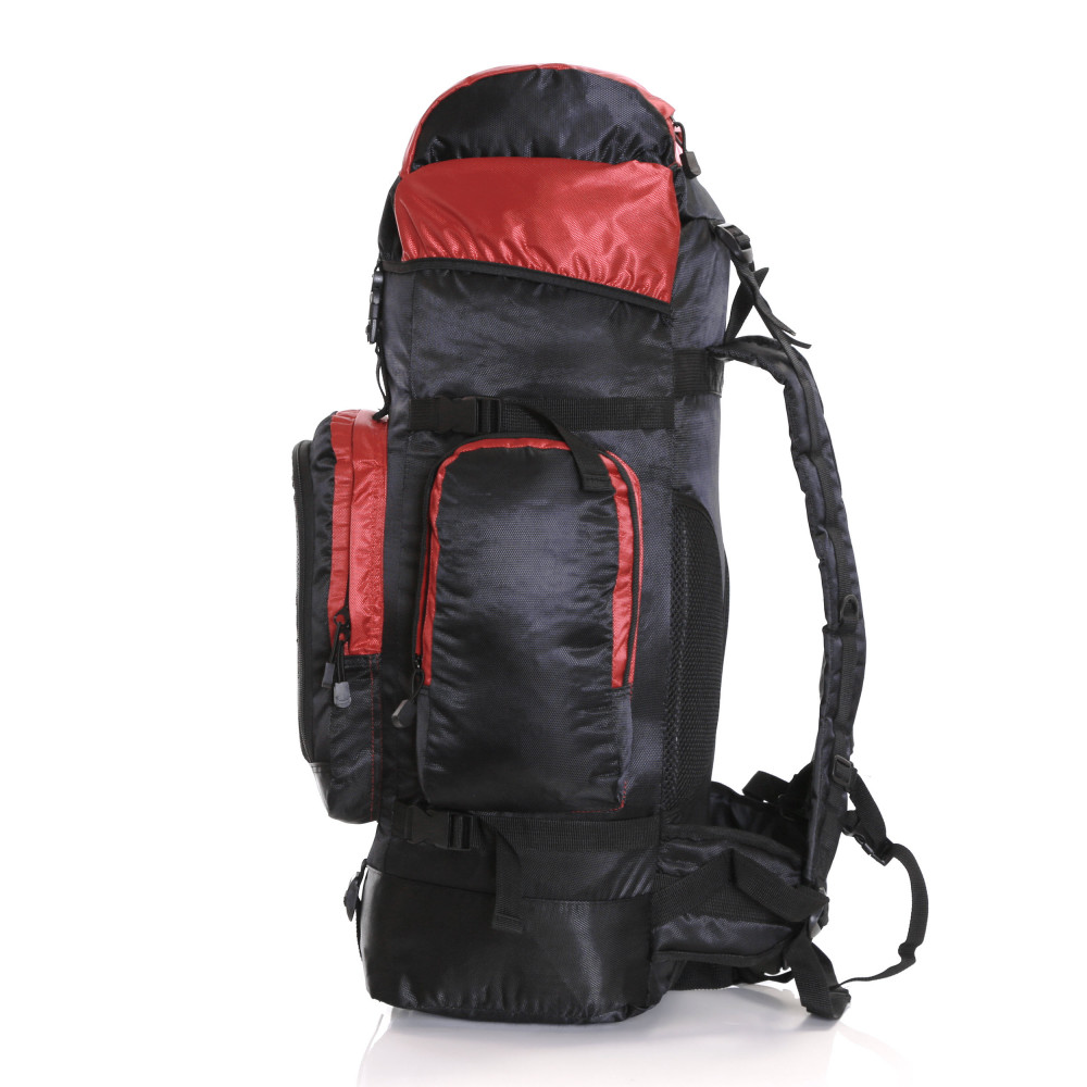 Karabar Makalu 80 Litres Travel Backpack, Black/Red 4