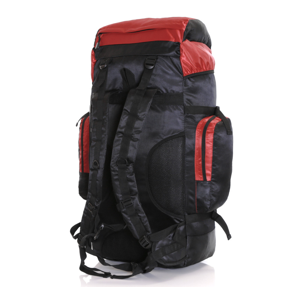 Karabar Makalu 80 Litres Travel Backpack, Black/Red Side