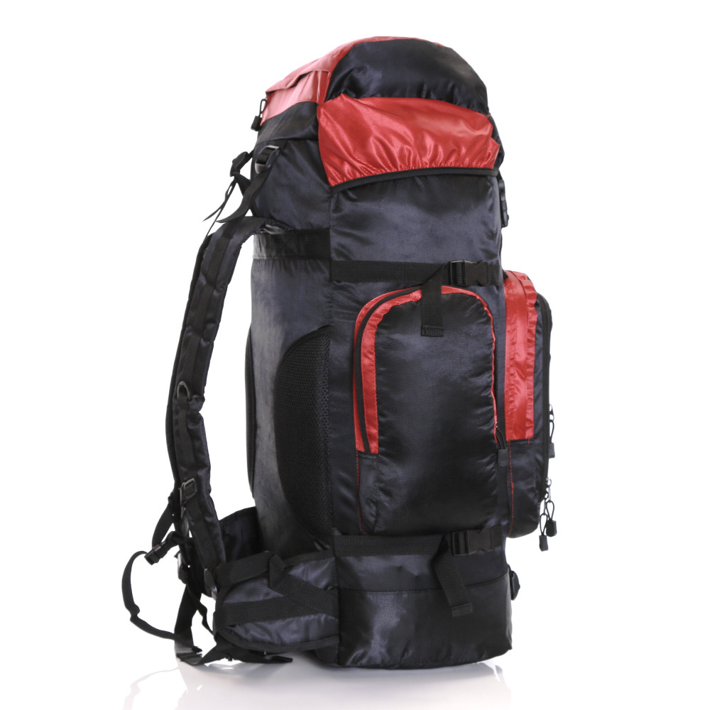 Karabar Makalu 80 Litres Travel Backpack, Black/Red Side 2