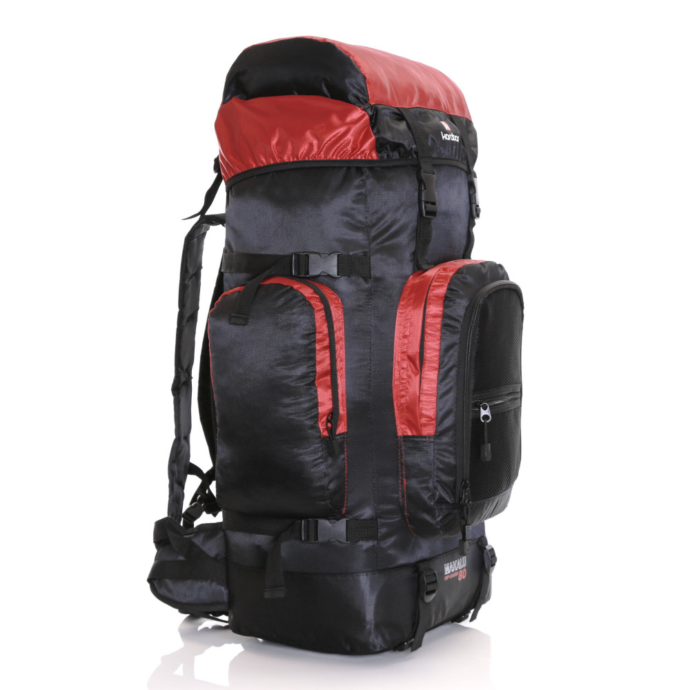 Karabar Makalu 80 Litres Travel Backpack, Black/Red 5