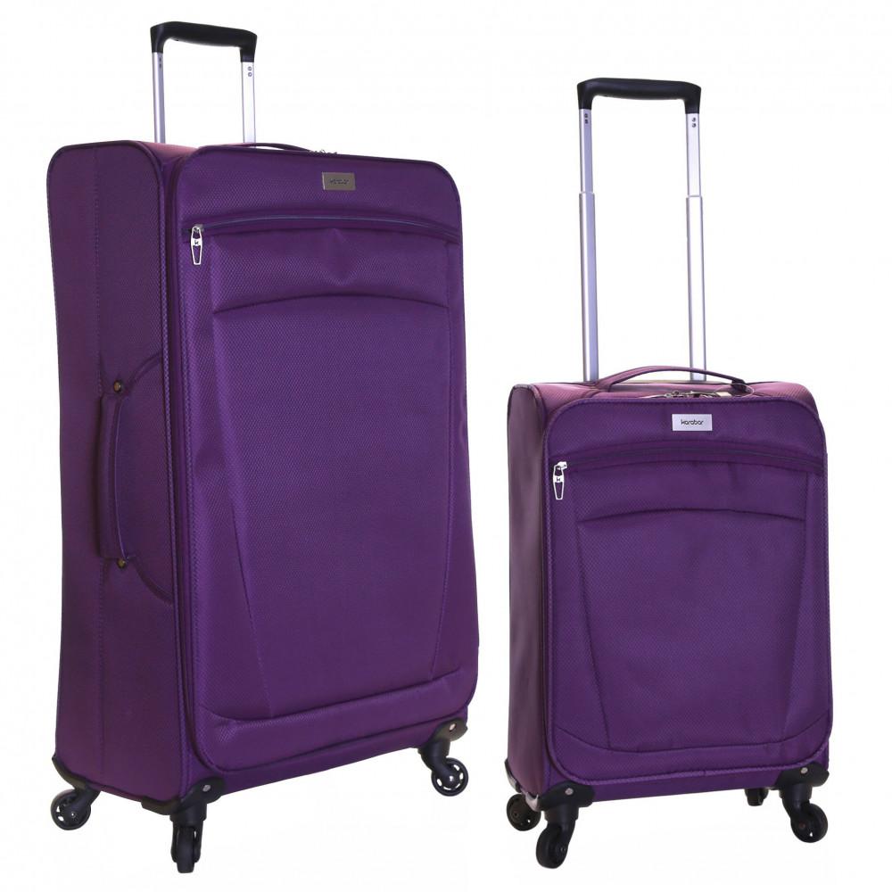 Karabar Marbella Set of 2 Lightweight Suitcases, Aubergine