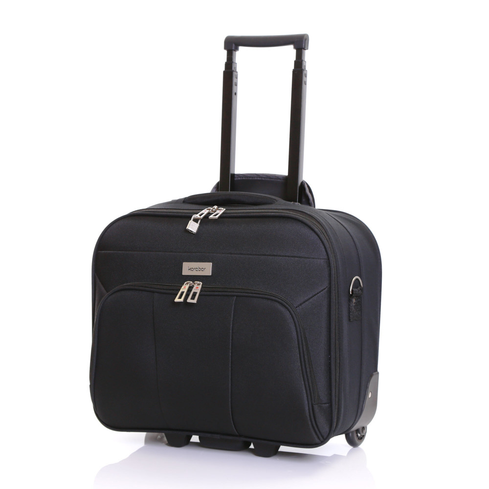Karabar Minto Wheeled Laptop Case, Black