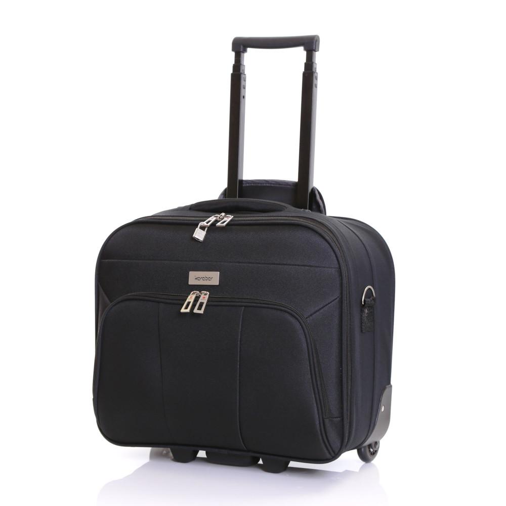 Karabar Minto Wheeled Laptop Case, Black