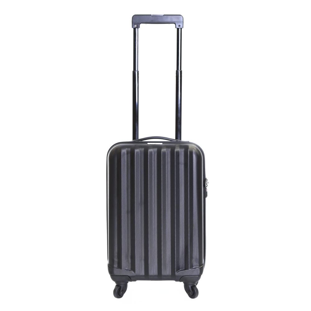 Karabar Monaco Cabin Hard Suitcase, Black Carry-On