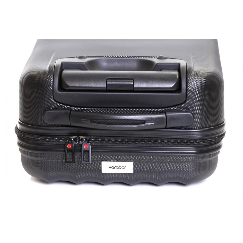 Karabar Monaco Cabin Hard Suitcase, Black Top