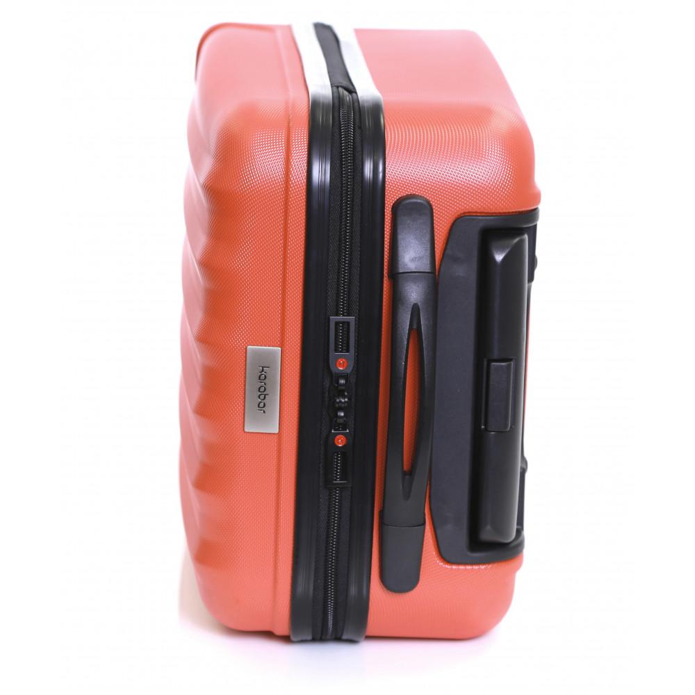 Karabar Monaco Cabin Hard Suitcase, Red Top