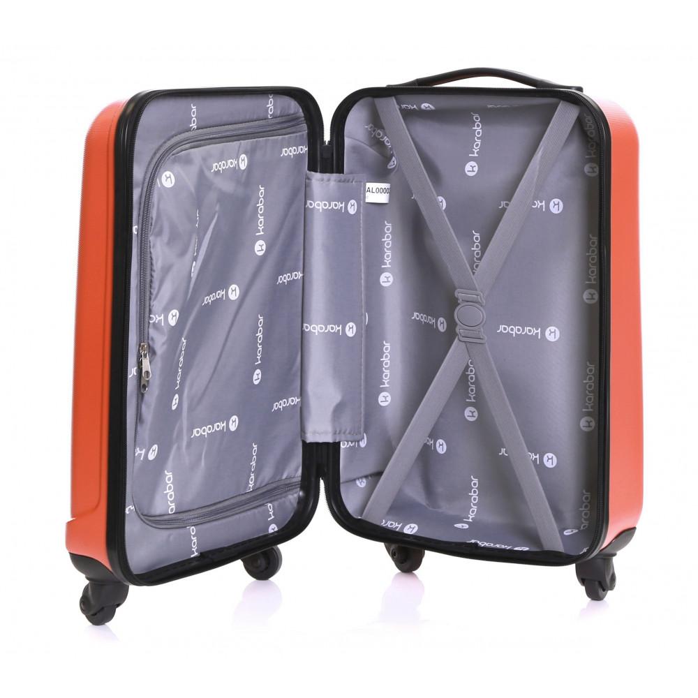 Karabar Monaco Cabin Hard Suitcase, Red Inside