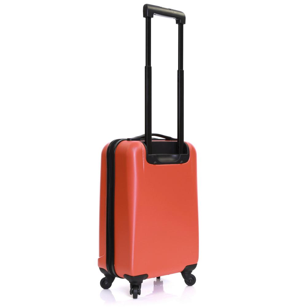 Karabar Monaco Cabin Hard Suitcase, Red Back