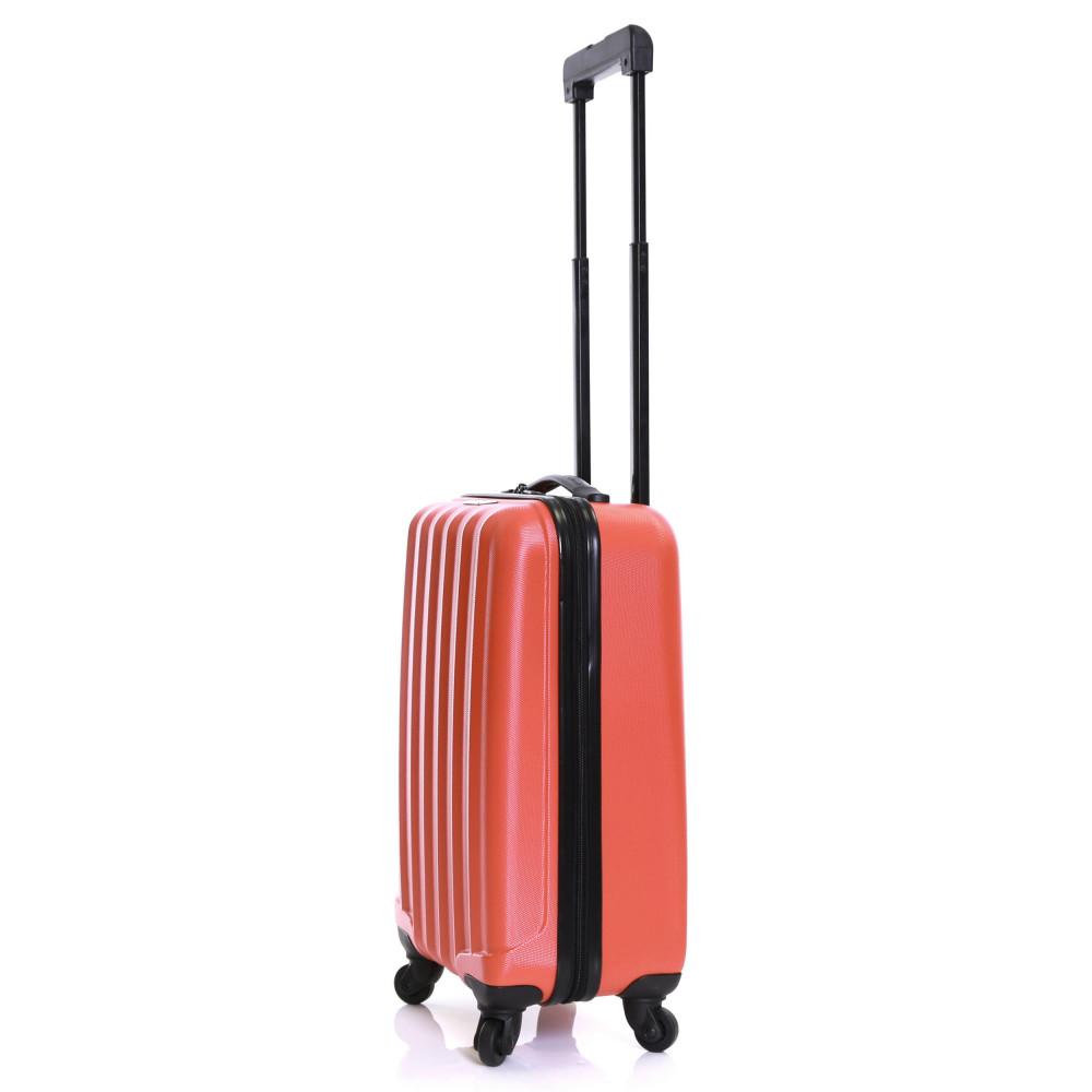 Karabar Monaco Cabin Hard Suitcase, Red Side