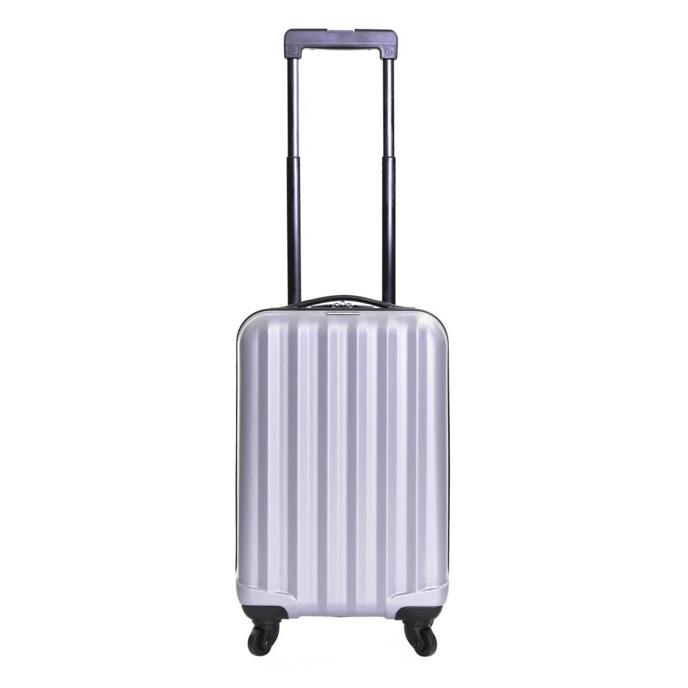 Karabar Monaco Cabin Hard Suitcase, Silver