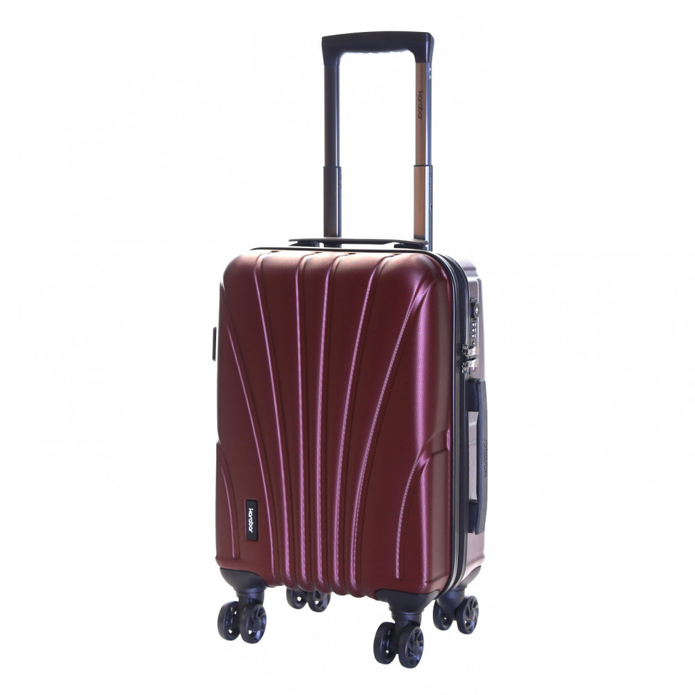 Karabar Seashell Cabin Approved Hard Suitcase, Grape