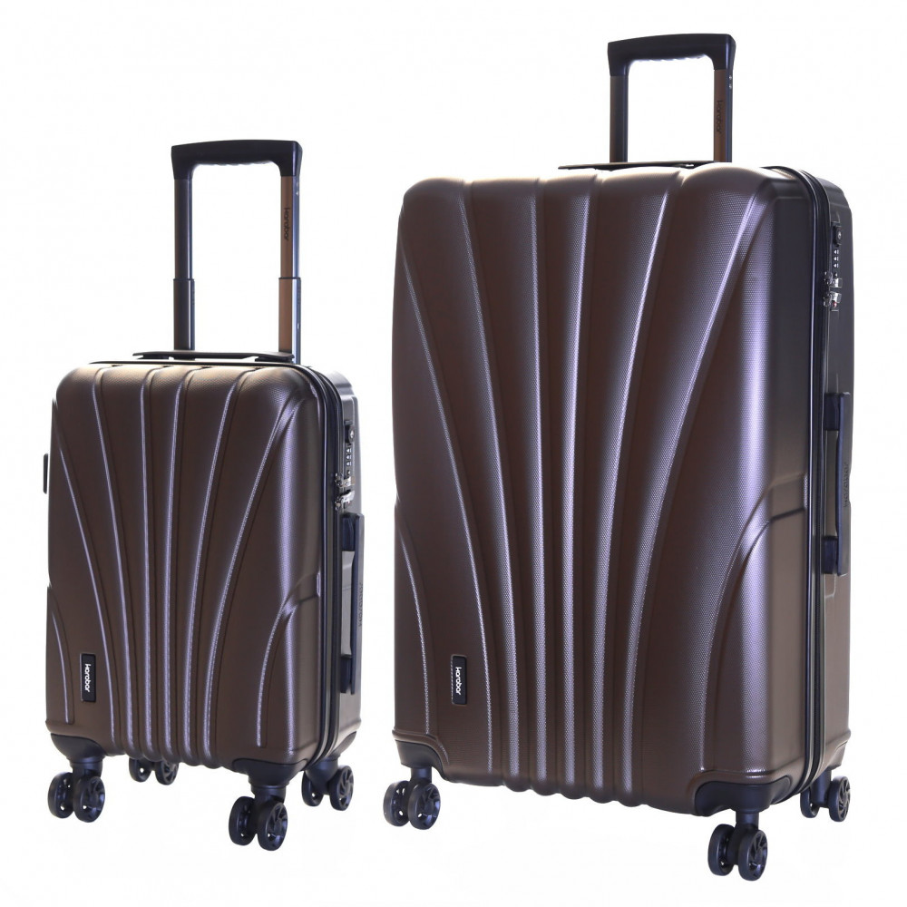 Karabar Seashell Set of 2 Hard Suitcases, Espresso