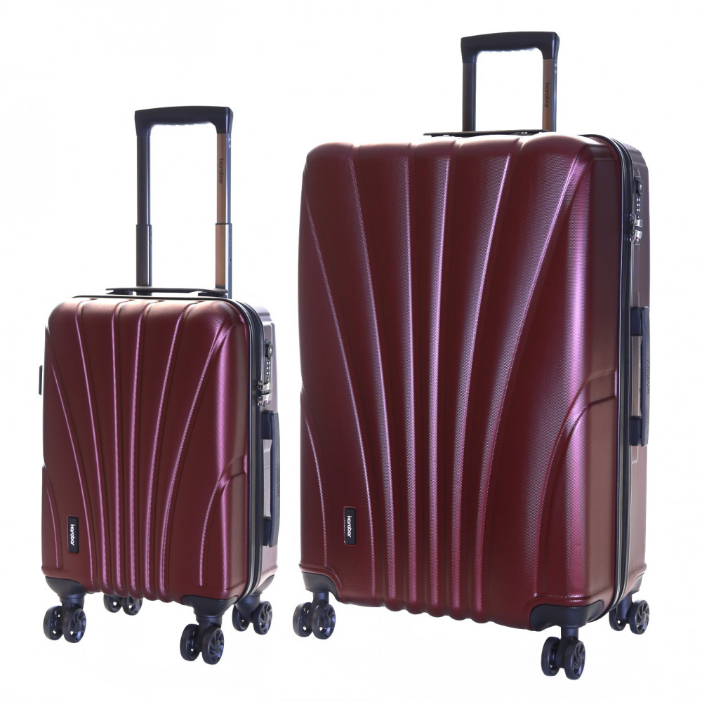 Karabar Seashell Set of 2 Hard Suitcases, Grape