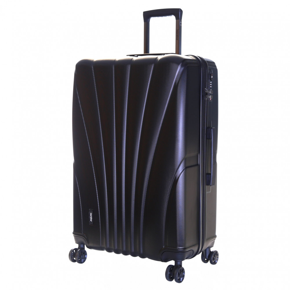 Karabar Seashell Large Hard Suitcase, Black