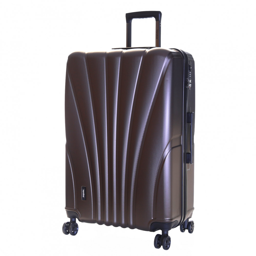 Karabar Seashell Large Hard Suitcase, Espresso