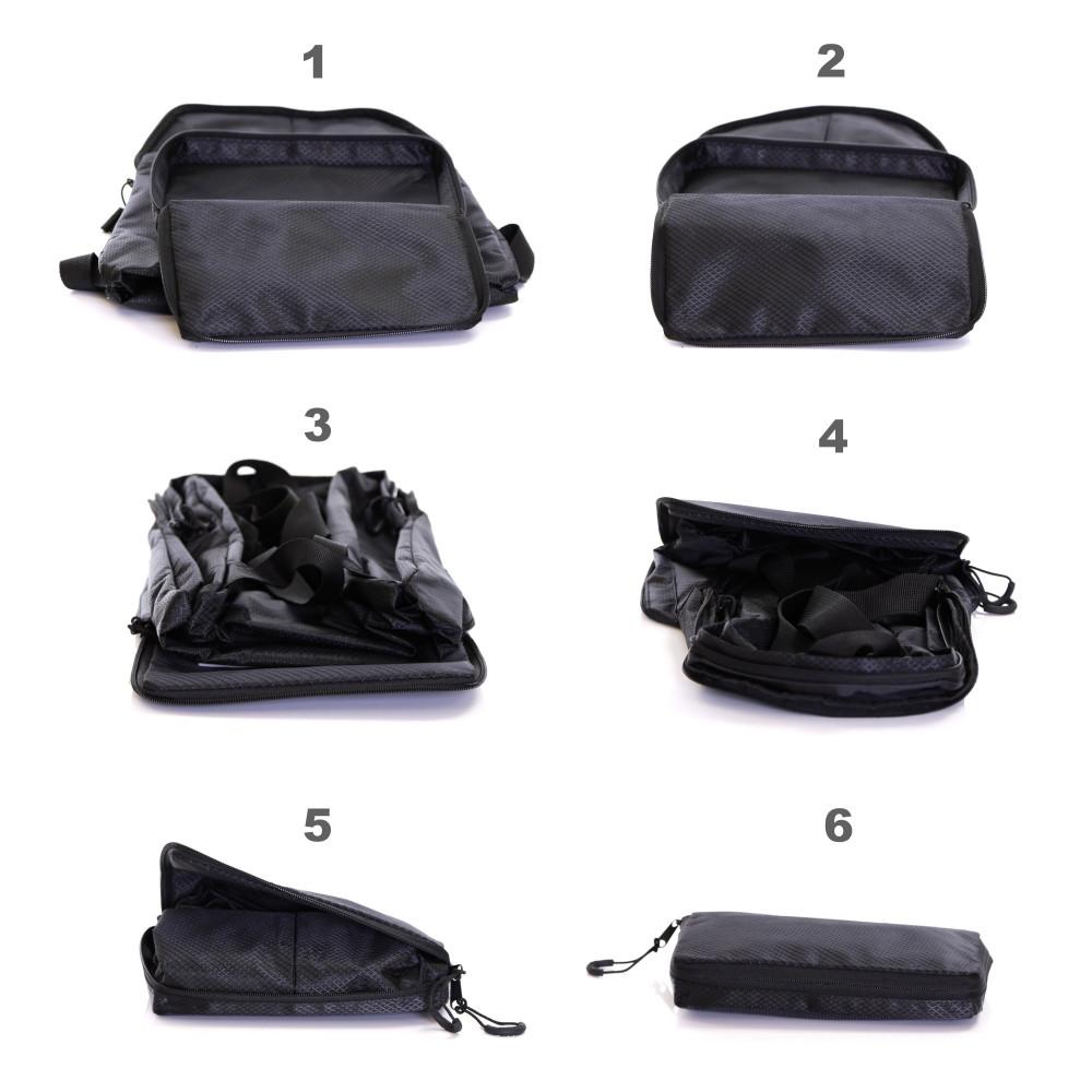 Karabar Sintra 15 Litre Foldable Backpack, Ink Black Multi View