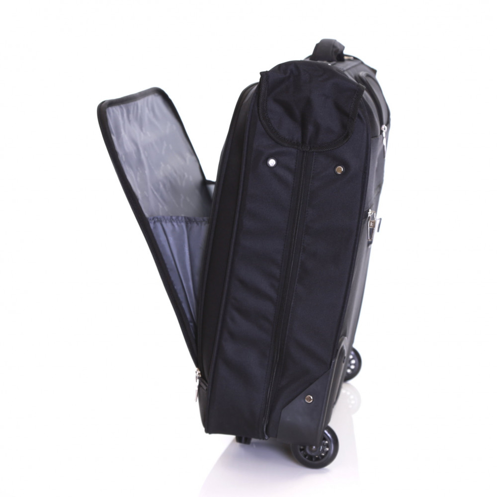 Karabar Stanley Wheeled Suit/Garment Carrier, Black Front Pocket