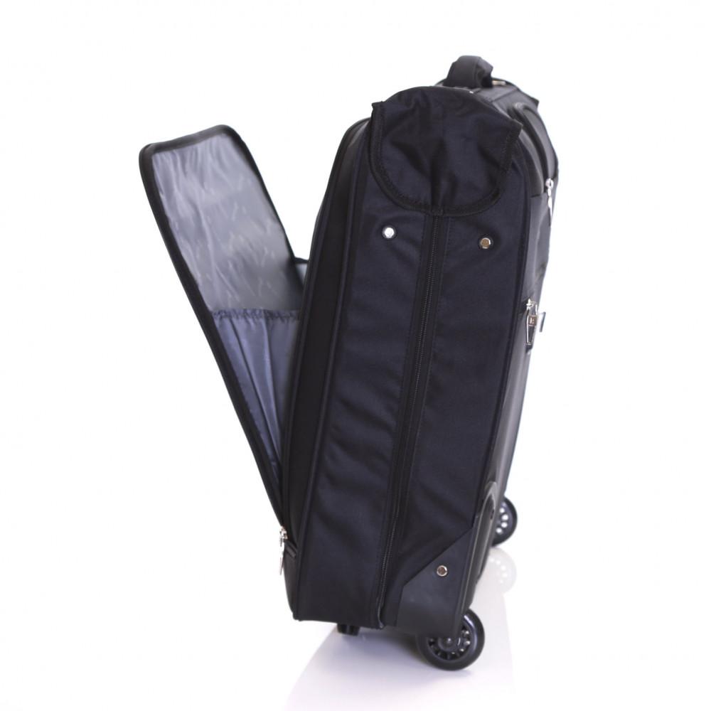 Karabar Stanley Wheeled Suit/Garment Carrier, Black Front Pocket