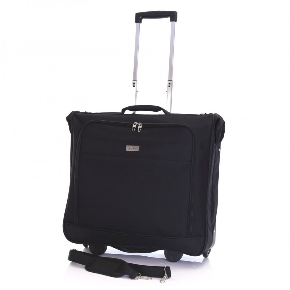 Karabar Stanley Wheeled Suit/Garment Carrier, Black Full Trolley