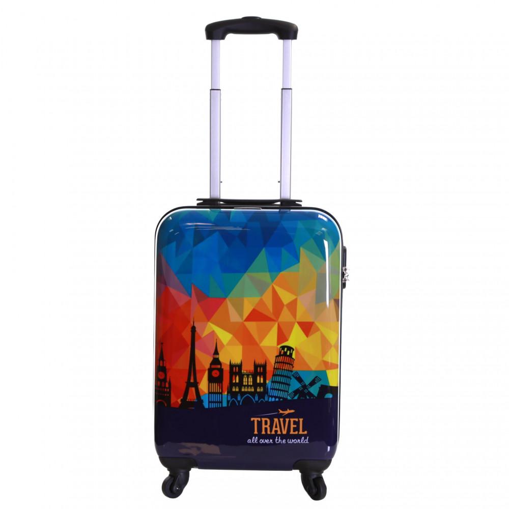 Karabar Falla Cabin Approved Hard Suitcase, Sky Prism