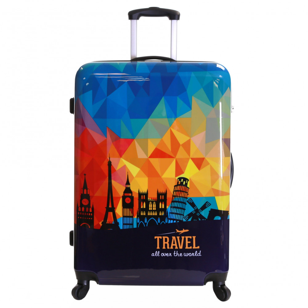 Karabar Falla Large 76 cm Hard Suitcase, Sky Prism