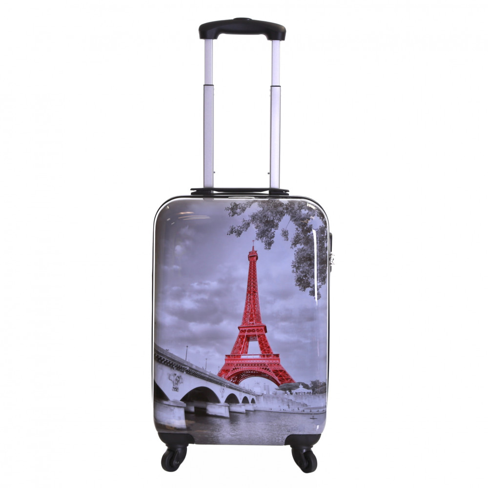 Karabar Falla Cabin Approved Hard Suitcase, Eiffel Tower