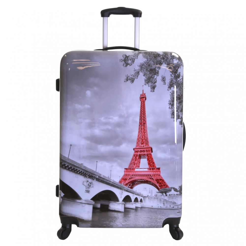 Karabar Falla Large 76 cm Hard Suitcase, Eiffel Tower