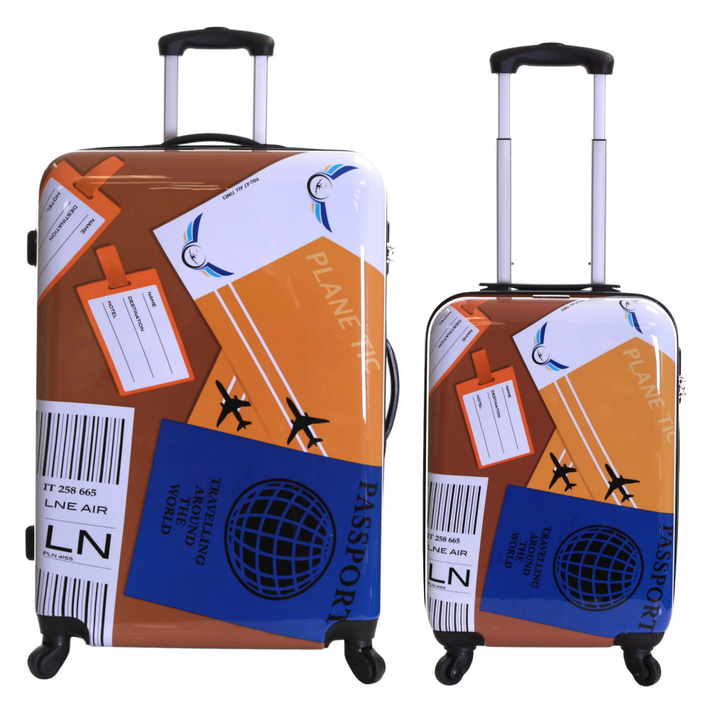 Karabar Falla Set of 2 Hard Suitcases, World Travel