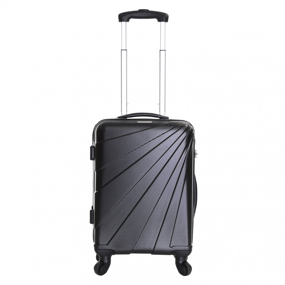 Slimbridge Fusion Cabin Approved Hard Suitcase, Black