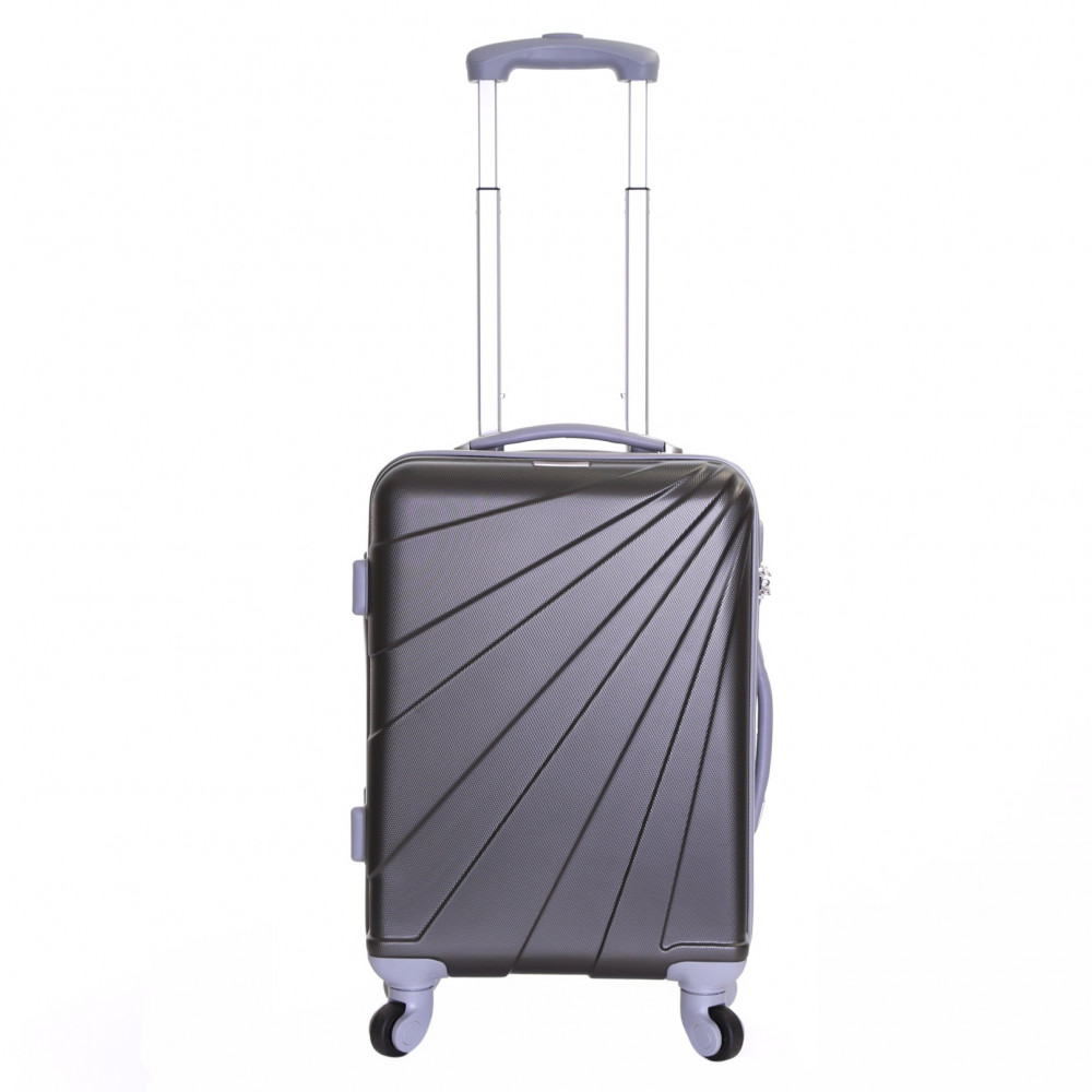 Slimbridge Fusion Cabin Approved Hard Suitcase, Graphite