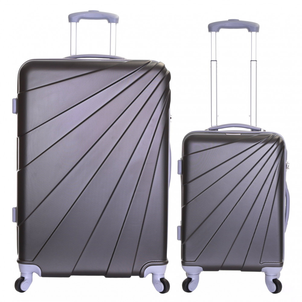 Slimbridge Fusion Set of 2 Hard Suitcases, Graphite
