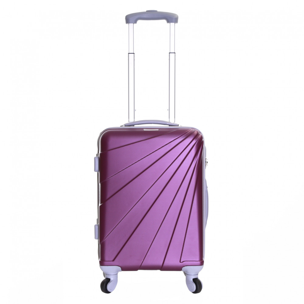 Slimbridge Fusion Cabin Approved Hard Suitcase, Plum