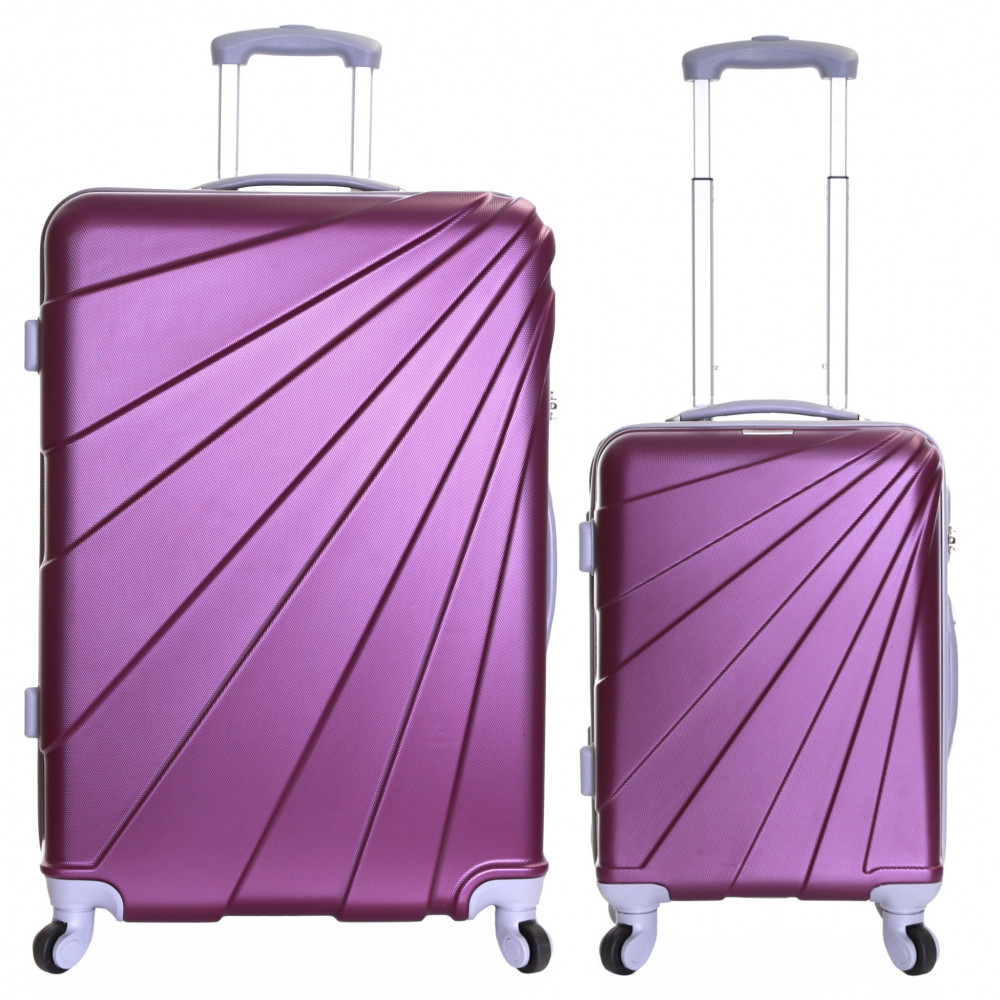 Slimbridge Fusion Set of 2 Hard Suitcases, Plum