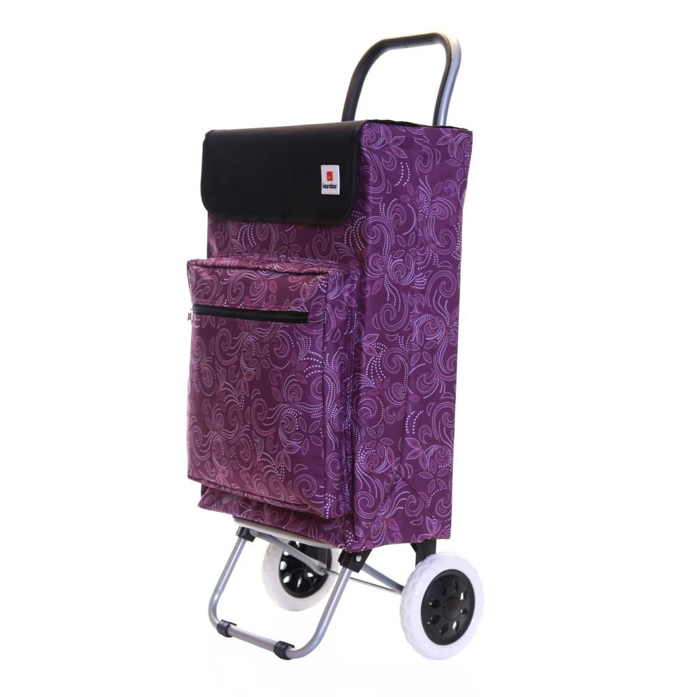 Karabar Moss Large Capacity Shopping Trolley, Purple