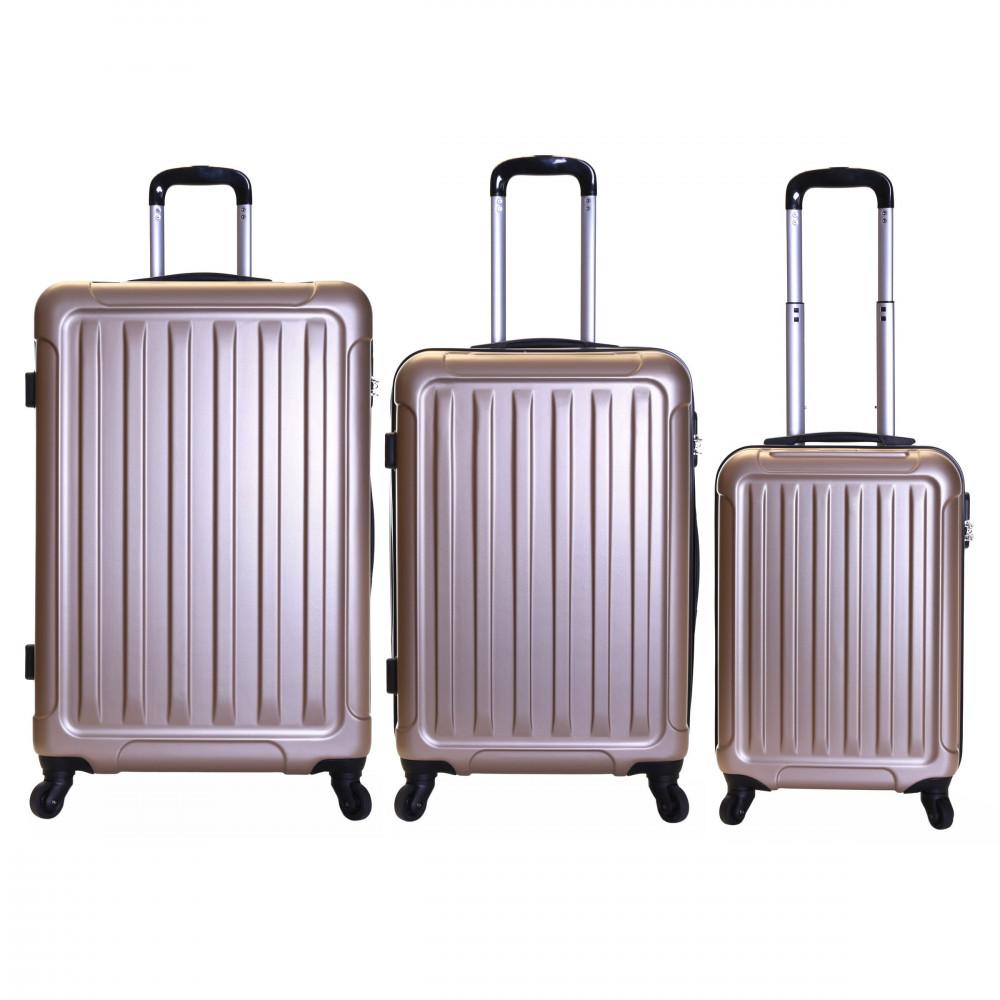 Slimbridge Lydd Set of 3 Hard Suitcases, Gold