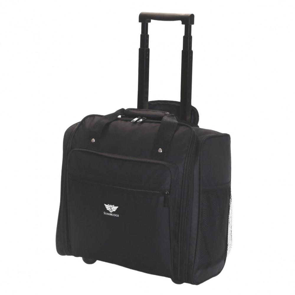 Slimbridge Orlando Cabin Approved Under Seat Trolley Bag, Black