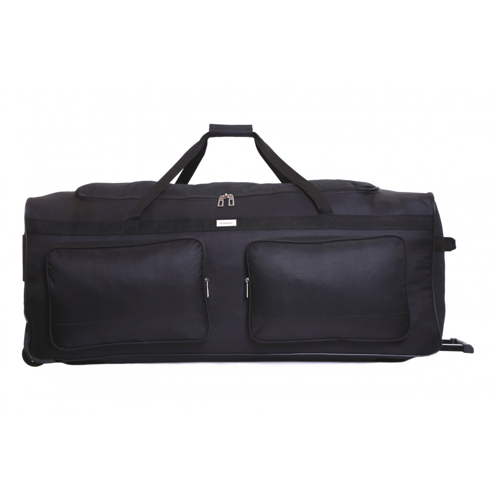 Slimbridge Loomis 40 Inch Wheeled Holdall, Black Front