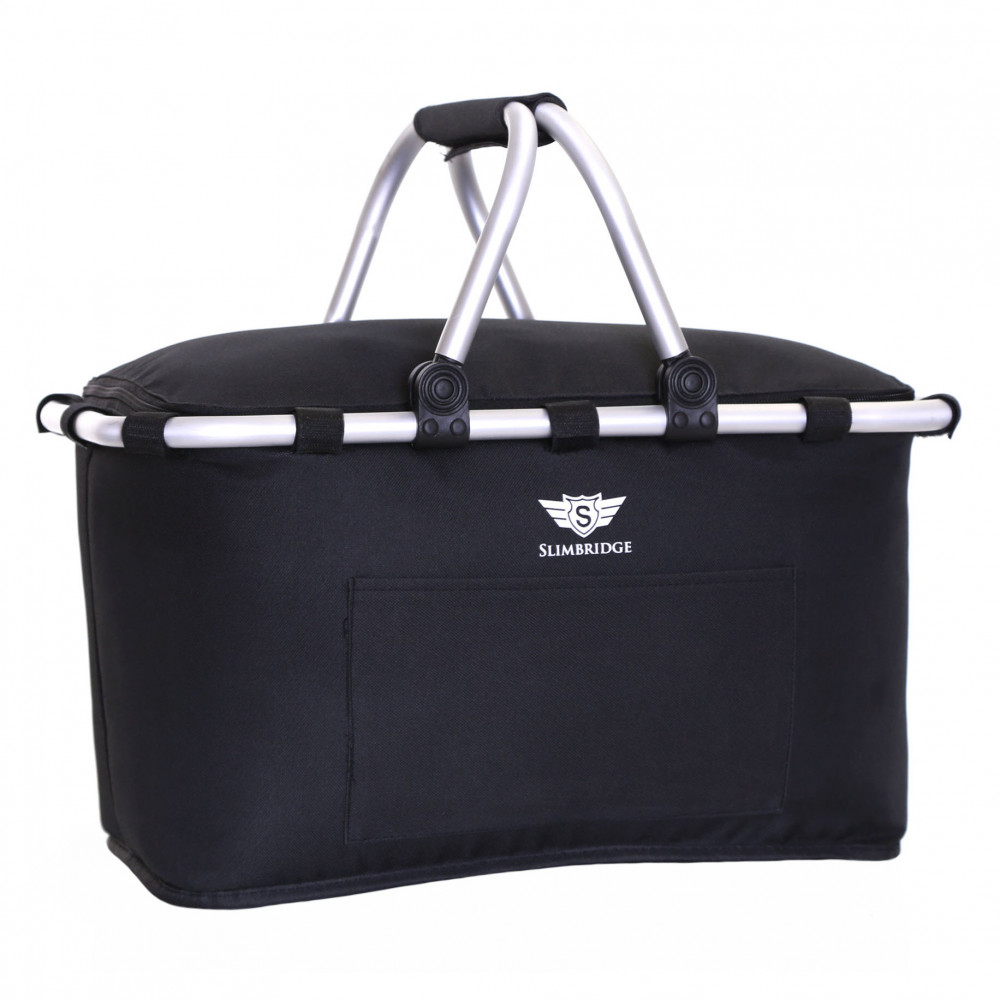 Slimbridge Tenby Family Picnic Basket, Black