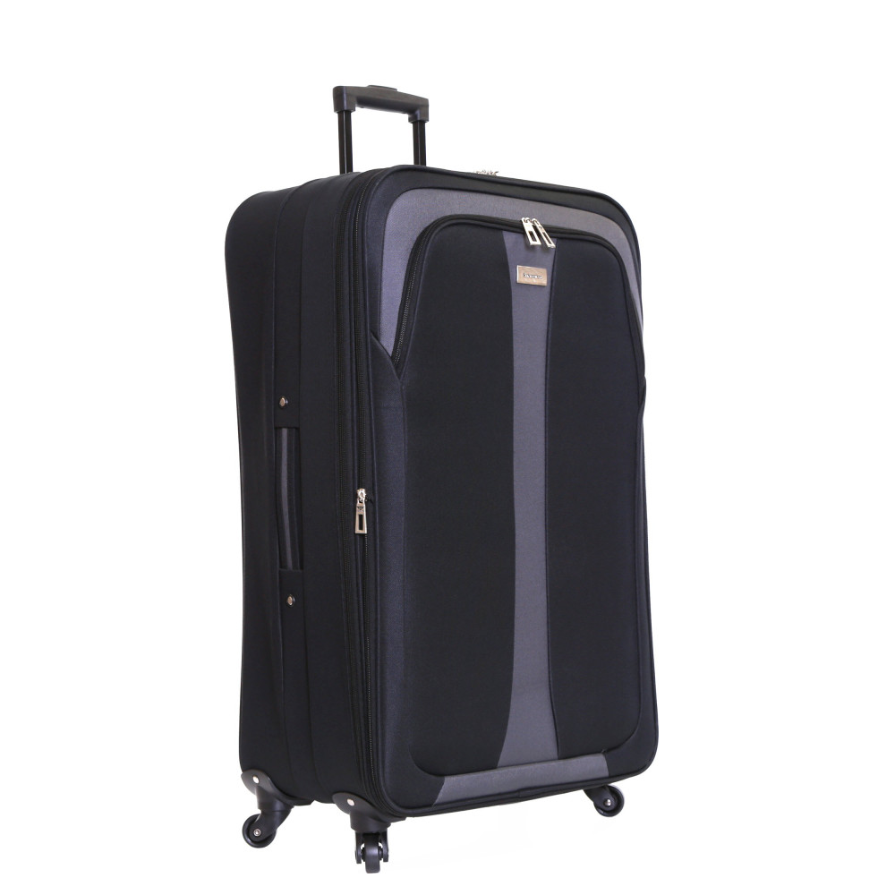 Slimbridge Andalucia Set of 2 Expandable Suitcases, Black Large