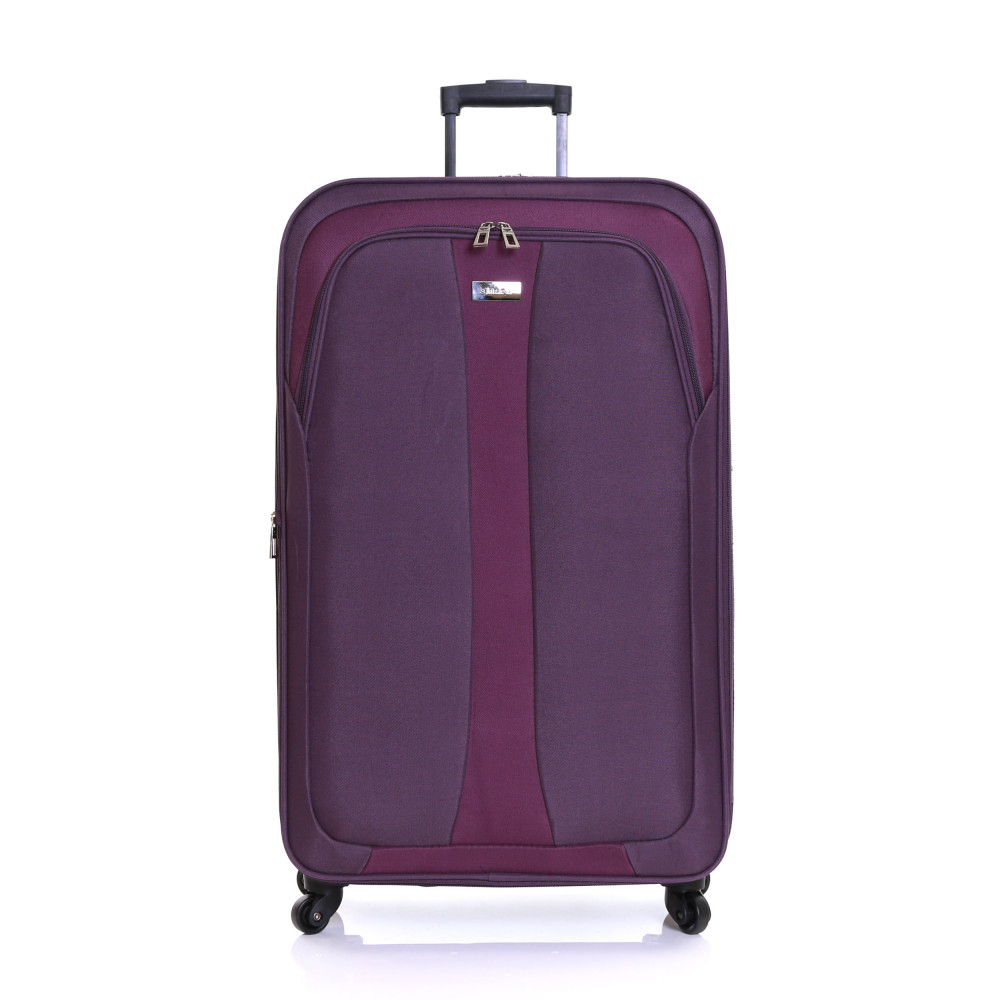 Slimbridge Andalucia Set of 2 Expandable Suitcases, Plum Large Front